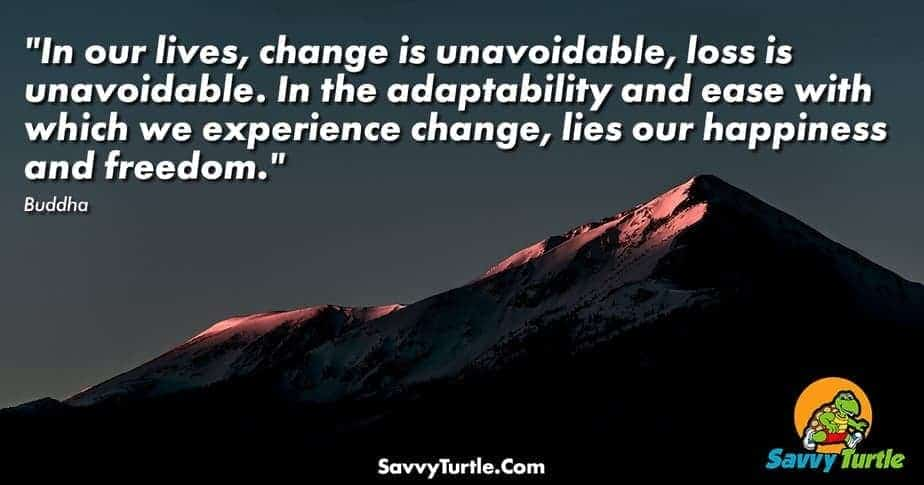 In our lives change is unavoidable loss is unavoidable