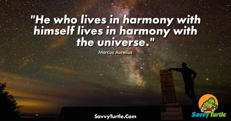 He who lives in harmony with himself