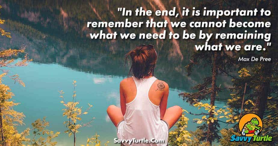 In the end it is important to remember that we cannot become what