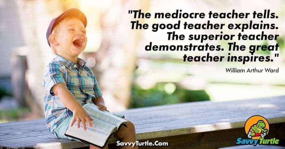 The mediocre teacher tells The Good Teacher explains