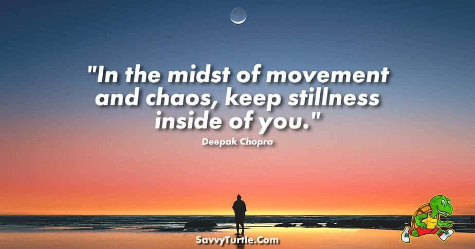 In the midst of movement and chaos keep stillness inside of you