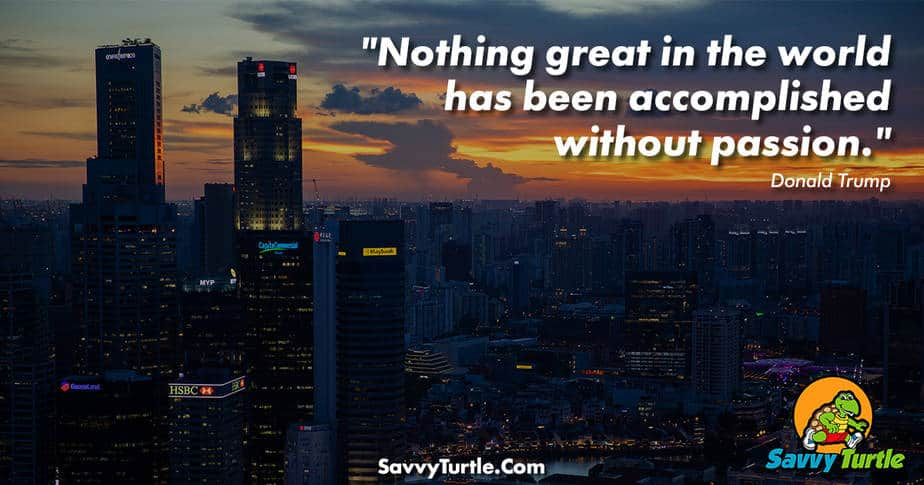 Nothing great in the world has been accomplished without passion