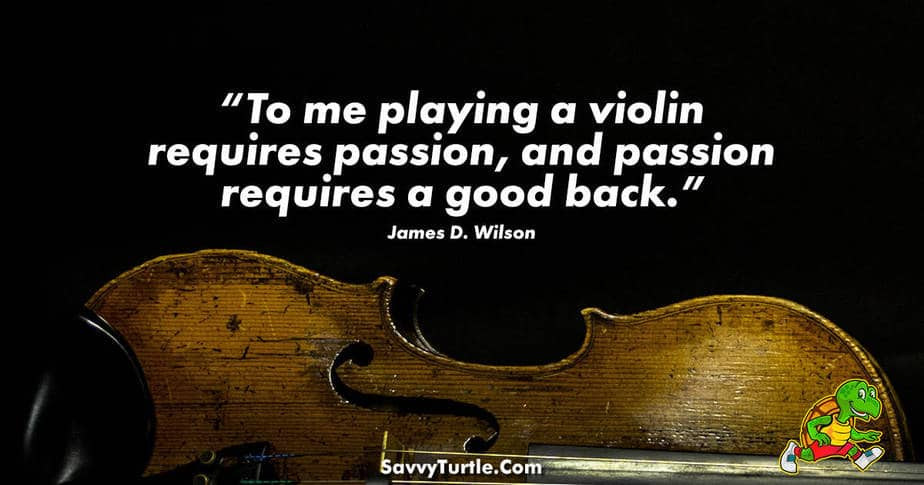To me playing a violin requires passion