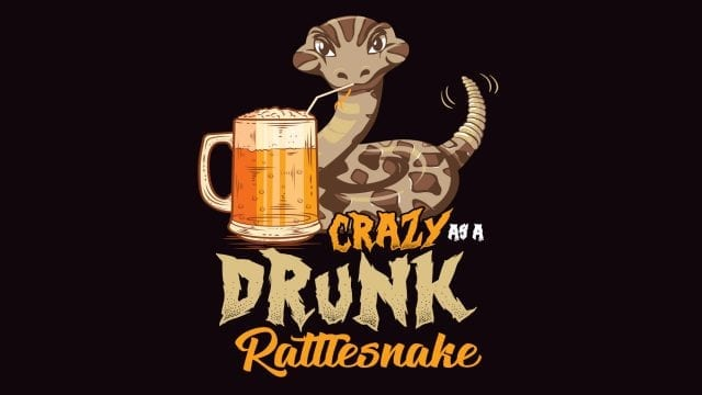 Savvy Turtle Crazy As A Drunk Rattlesnake
