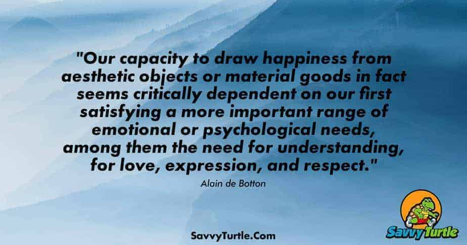 Our capacity to draw happiness from aesthetic objects or