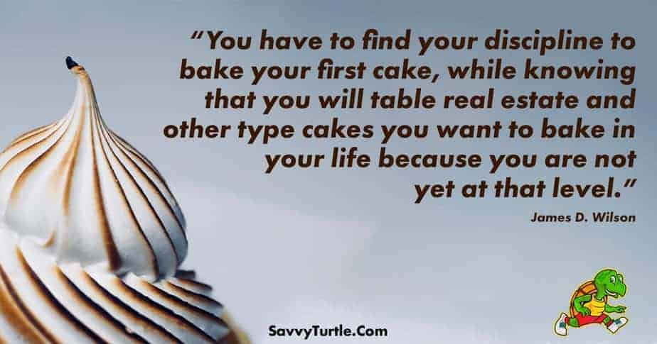Find your discipline to bake your first cake