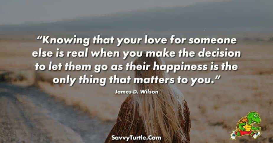 Knowing that your love for someone else