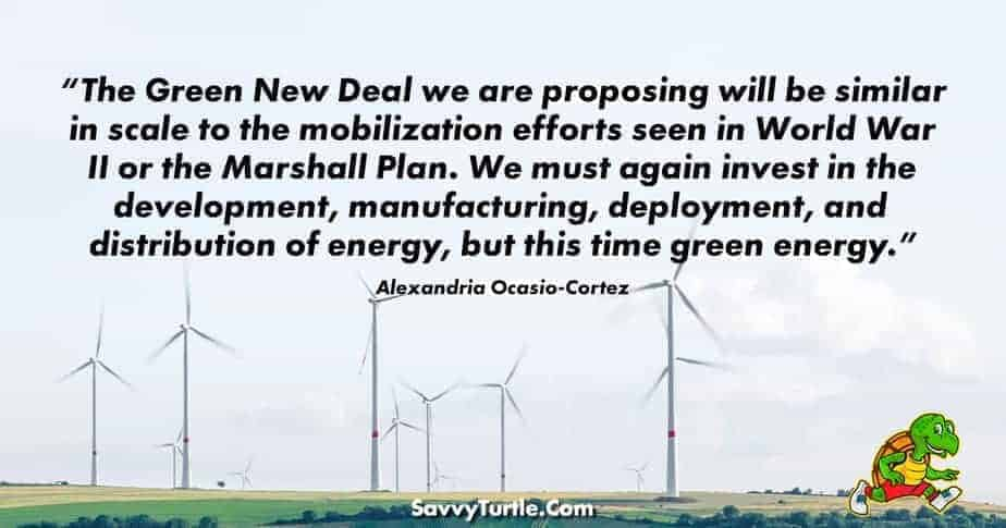 The Green New Deal we are proposing will be