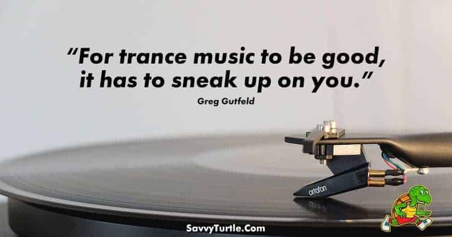 For trance music to be good