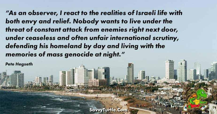 As an observer I react to the realities of Israeli life