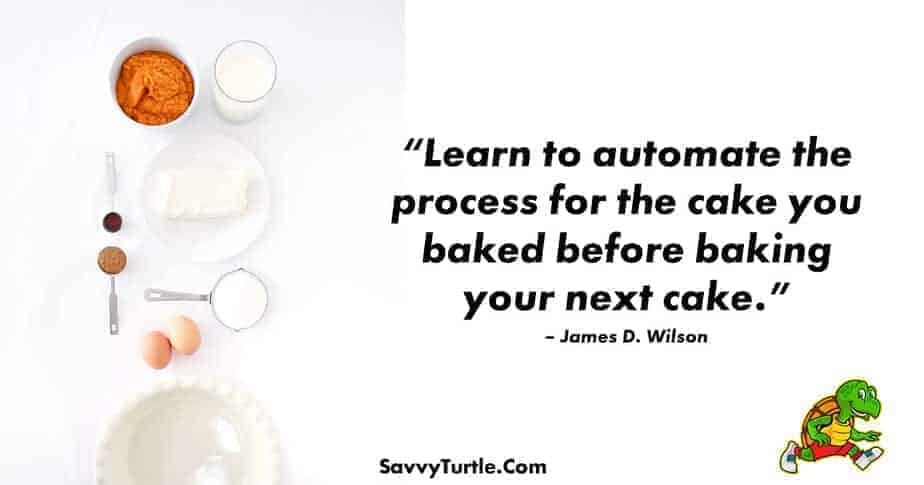 Learn to automate the process for the cake you baked