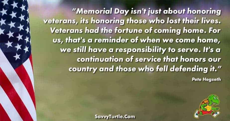 Memorial Day isnt just about honoring veterans