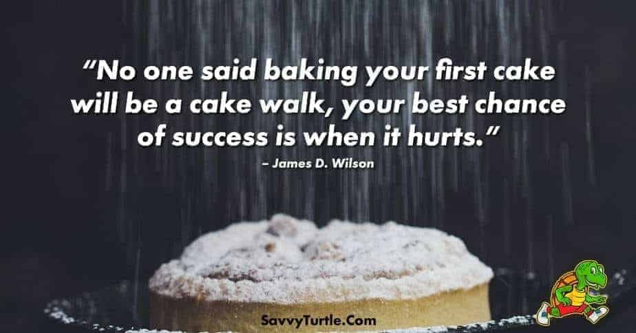 No one said baking your first cake will be a cake walk