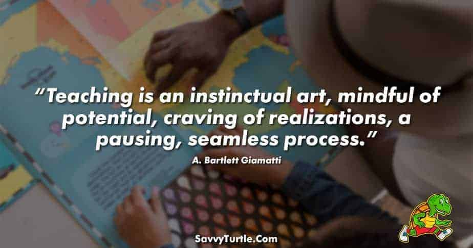 Teaching is an instinctual art mindful of potential