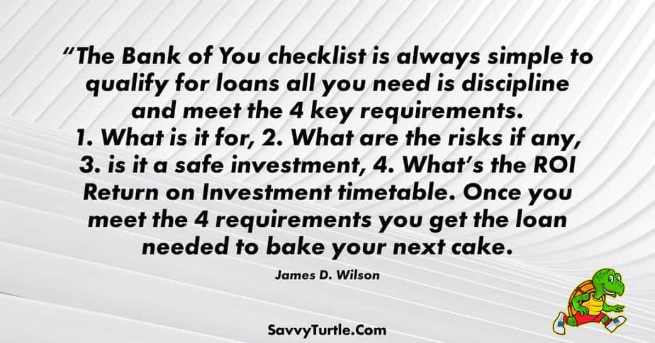 The Bank of You checklist is always simple to qualify for