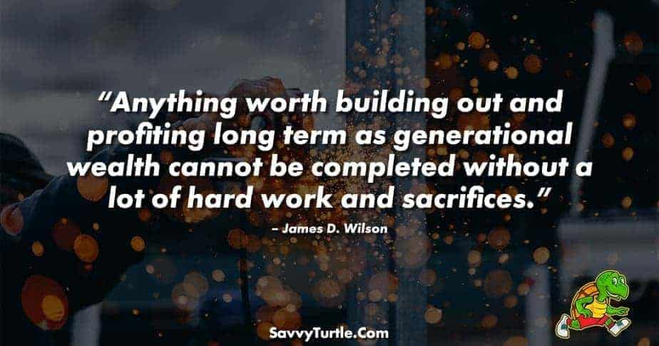 Anything worth building out and profiting long term
