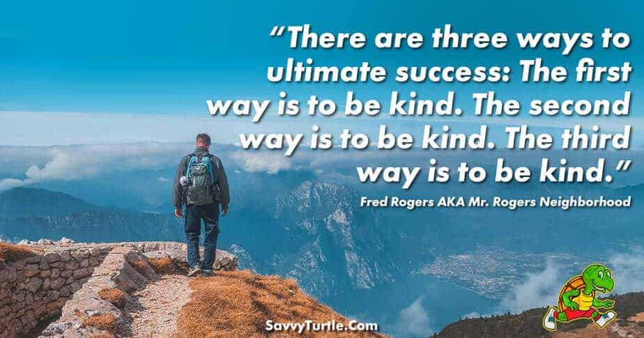 There are three ways to ultimate success
