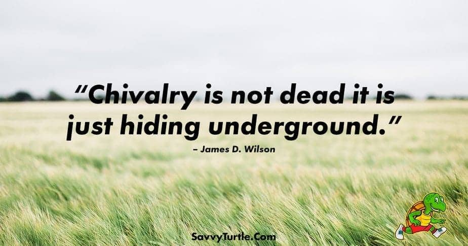 Chivalry is not dead it is just hiding underground
