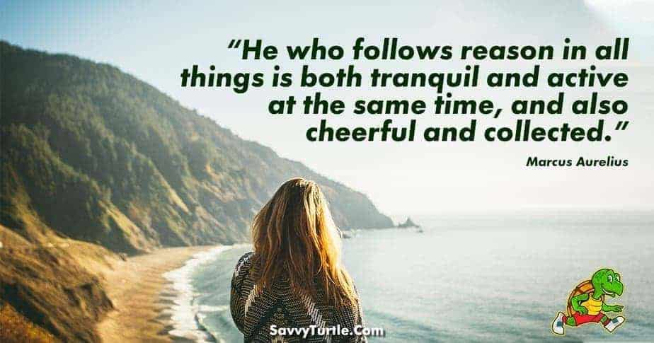 He who follows reason in all things