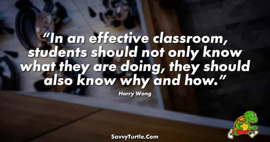 In an effective classroom stundents should not only