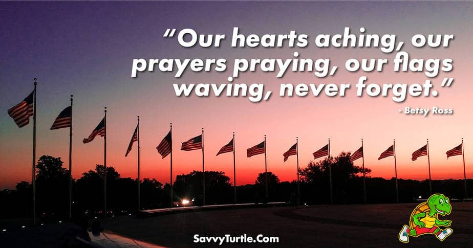 Our hearts aching our prayers praying our flags waving