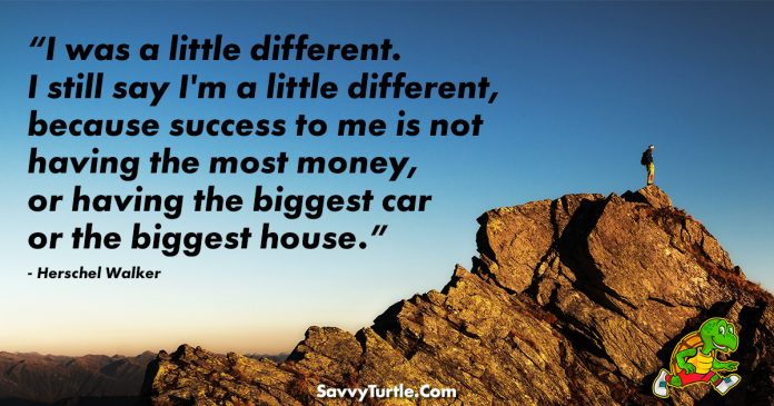 I was a little different I still say Im a little different