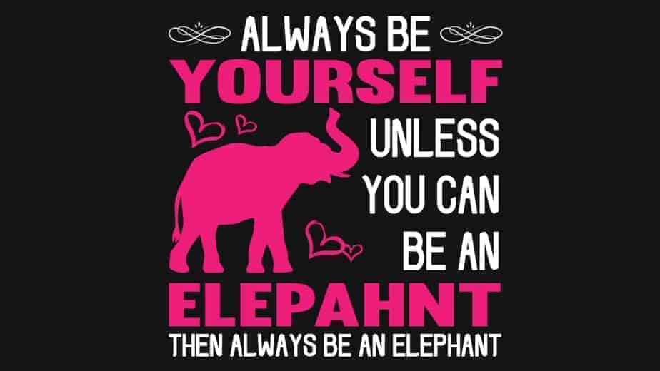 Always Be Yourself Unless You Can Be An Elephant