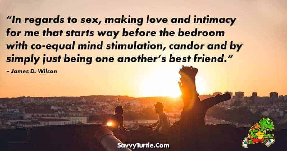 In regards to sex making love and intimacy