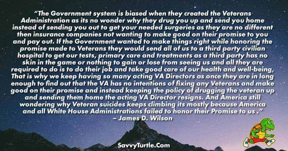 The Government system is biased when they created the VA