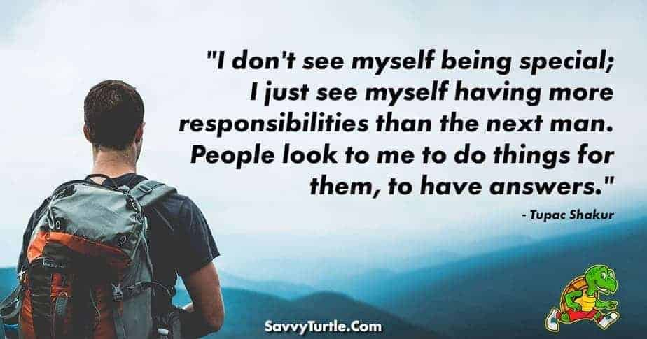 I dont see myself being special