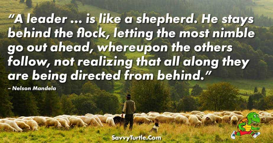 A leader is like a shepherd