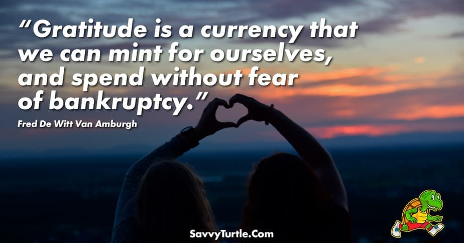 Gratitude is a currency that we can mint