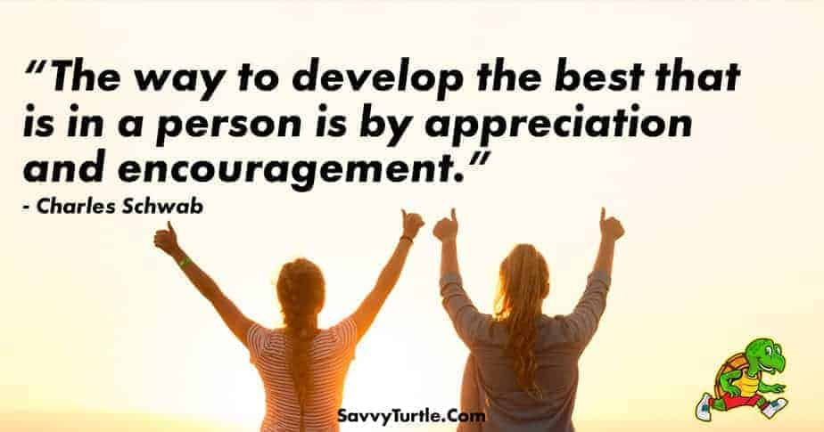 The way to develop the best that is in a person
