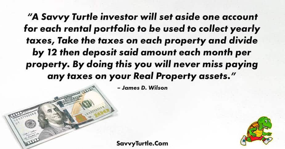 A Savvy Turtle investor will set aside one account for each rental