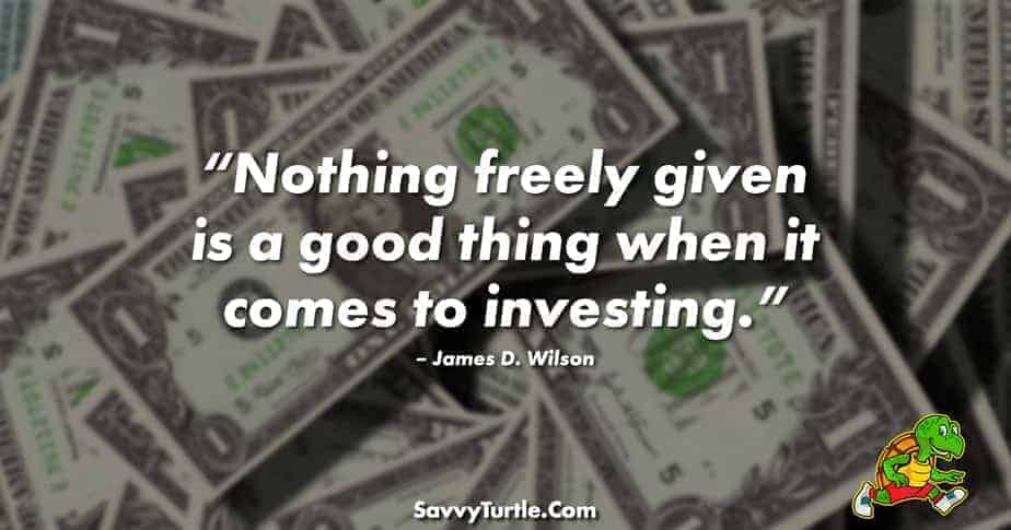 Nothing freely given is a good thing when it comes