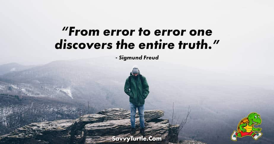 From error to error one discovers the entire truth