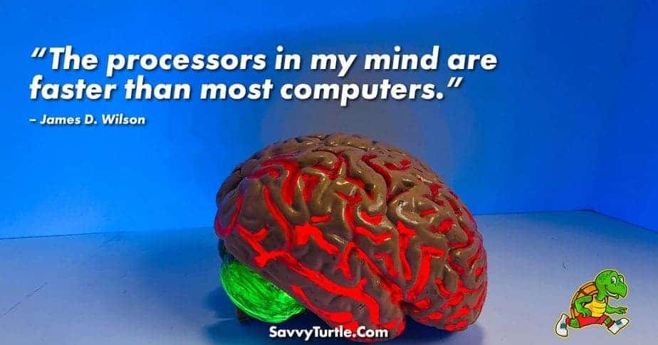 The processors in my mind are faster than most computers
