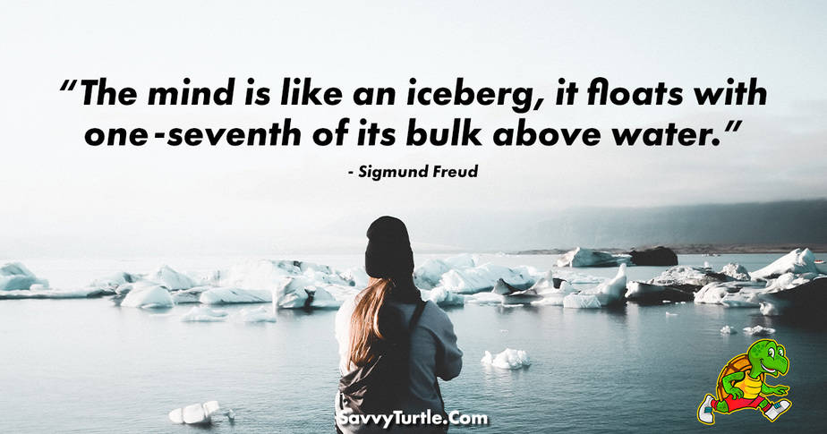 The mind is like an iceburg