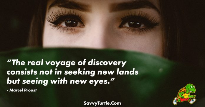 The real voyage of discovery consists not in seeking