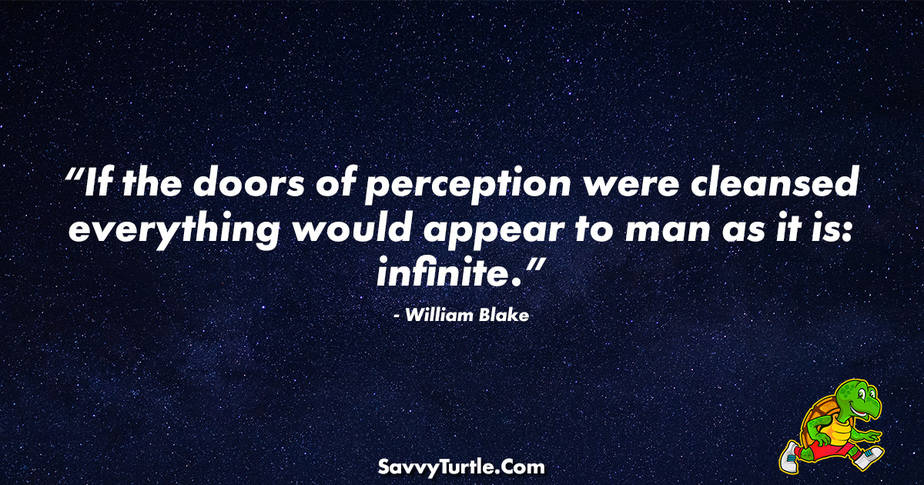 If the doors of perception were cleansed