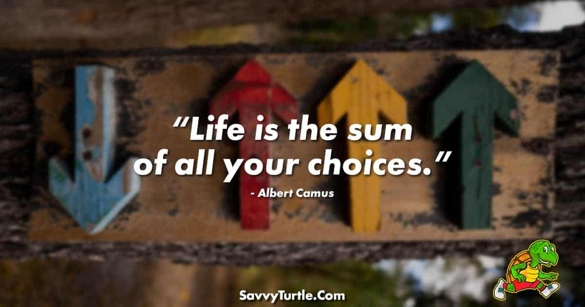 Life is the sum of all your choices
