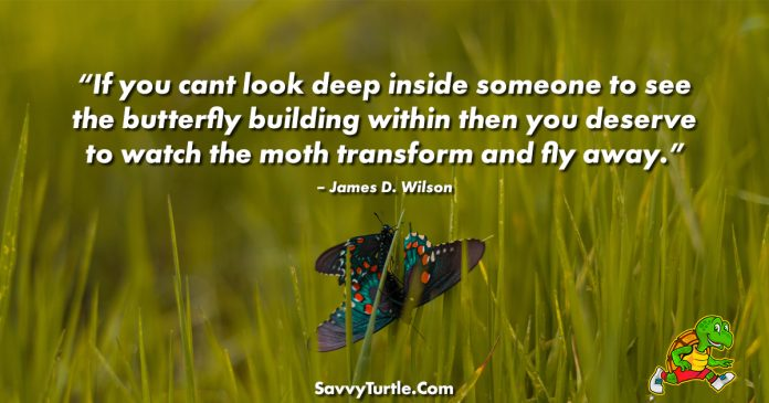 If you cant look deep inside someone to see the butterfly