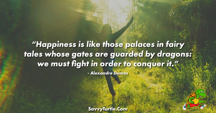 Happiness is like those palaces in fairy tales
