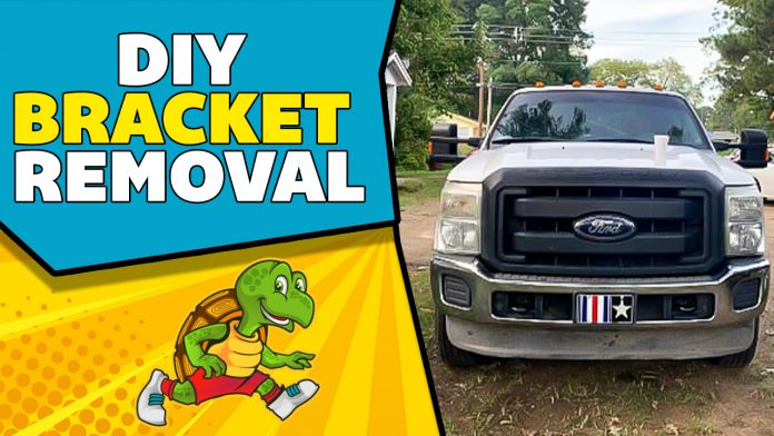 How To Remove License Plate Bracket on Ford F250