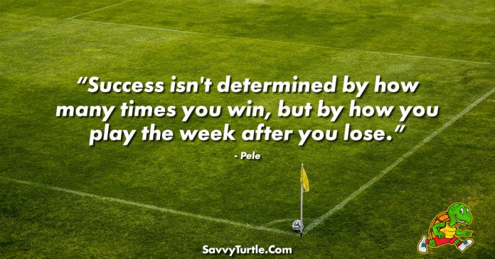 Success isnt determined by how many times you win