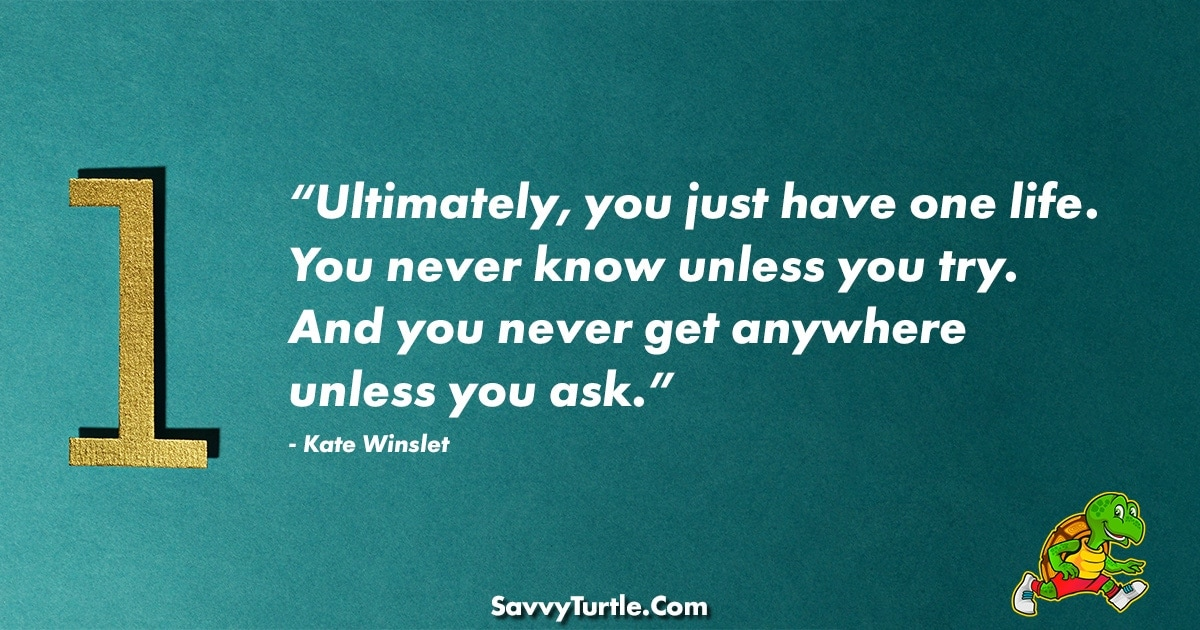 Ultimately you just have one life