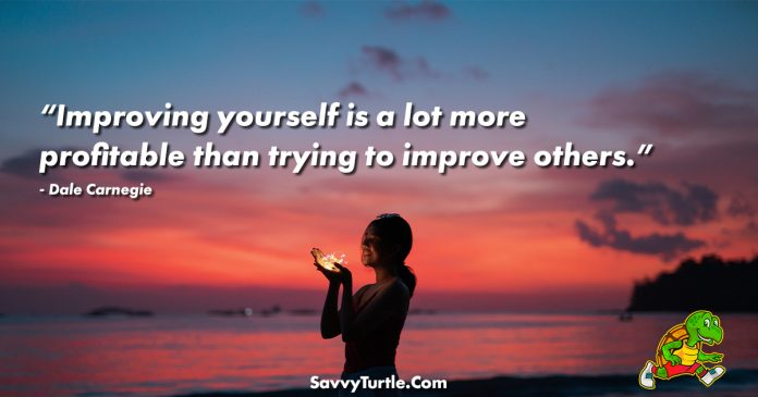 Improving yourself is a lot more profitable